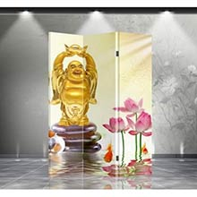 Double Sided Happy Buddha Divider