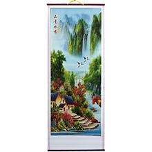 Home on the Water Chinese Scroll
