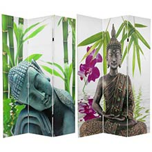 6 ft. Tall Double Sided Serenity Buddha Room Divider