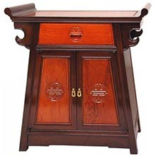 Rosewood Altar Cabinet - Two-tone