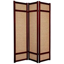 6 ft. Tall Jute Shoji Screen (Rosewood)