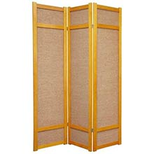 6 ft. Tall Jute Shoji Screen (Honey)
