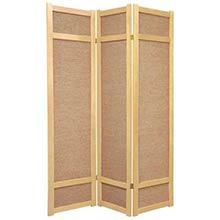 6 ft. Tall Jute Shoji Screen (Natural)