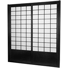 7 ft. Tall Black Zen Shoji Sliding Door Kit