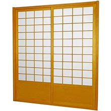 7 ft. Tall Honey Zen Shoji Sliding Door Kit