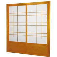7 ft. Tall Honey Eudes Shoji Sliding Door Kit (Double-Sided)