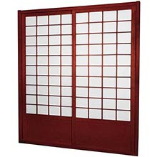 7 ft. Tall Rosewood Zen Shoji Sliding Door Kit (Double-Sided)