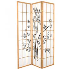 6 ft. Tall Lucky Bamboo Room Divider (Natural Finish)