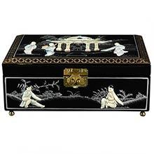 Clementina Jewelry Box in Black