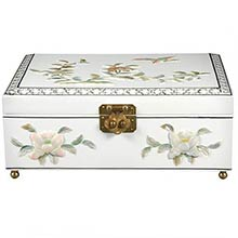 Clementina Jewelry Box in White