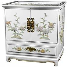 Empress Lacquer Jewel Box (White)