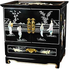Empress Lacquer Jewel Box (Black)