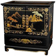 Empress Lacquer Jewel Box (Black Crackle)