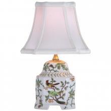 "13"" White Bird Jar Lamp"