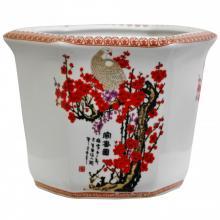 """10"""" Cherry Blossom Porcelain Flower Pot"""