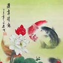 Koi fish scroll paintings