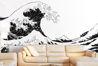 Asian decor wall sticker